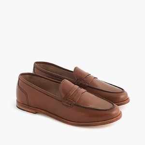 J. Crew Ryan Leather Penny Loafers